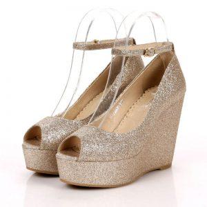 Dolgu Topuk Gelinlik Ayakkabı Modelleri