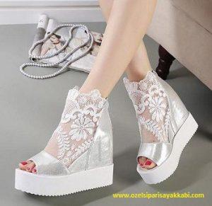 Platform gelinlik ayakkabı