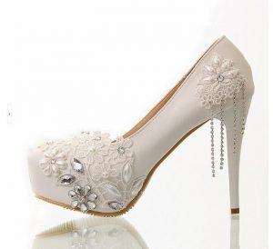Taşlı gelin ayakkabı Siparişi