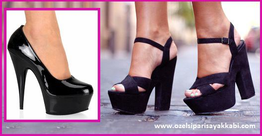 Yüksek Platform Topuklu Bayan Ayakkabı