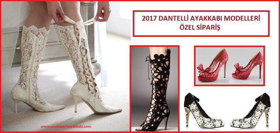 2017 Dantelli Ayakkabı Modelleri ve Özel Sipariş