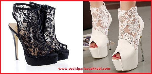 Dantelli Bayan Ayakkabı Modelleri