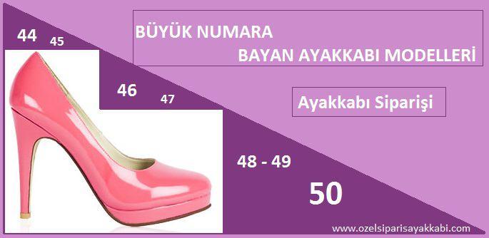 Büyük Numara Bayan Ayakkabı Siparişi Yapan Yerler