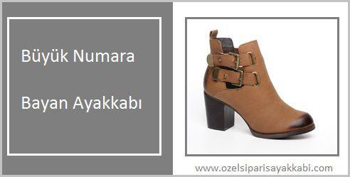 Büyük Numara Bayan Ayakkabı Sipariş