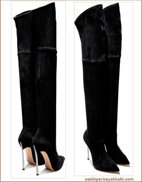 Uzun Topuklu Bayan Çizme Modelleri