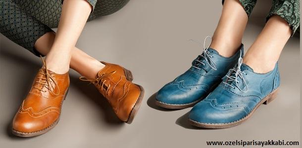 İzmir'de Bayan Oxford Ayakkabı Siparişi