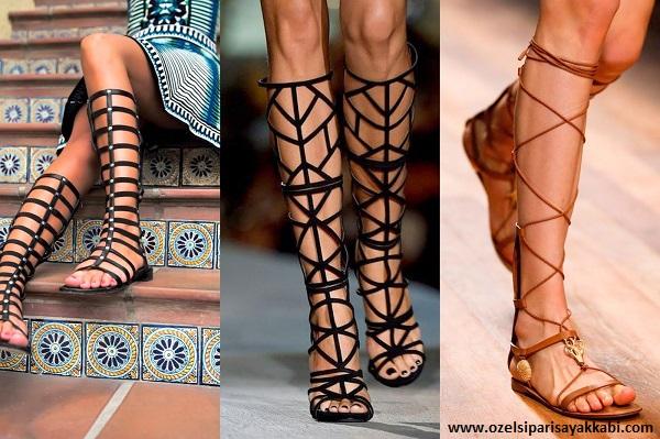 Balıkesir'de Gladyatör Sandalet Modelleri