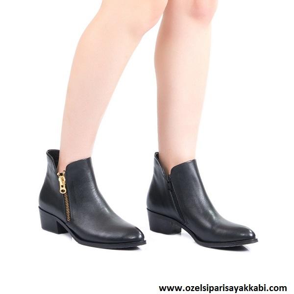 Çift Fermuarlı Bayan Ayakkabı Modelleri