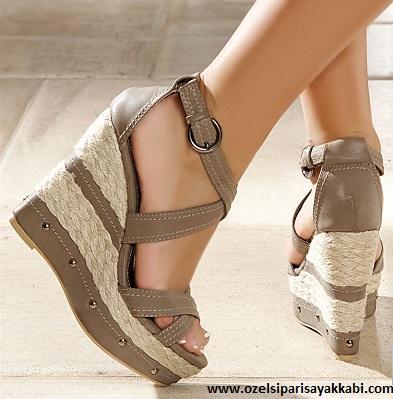 Özel Üretim Dolgu Topuk Ayakkabı Modelleri