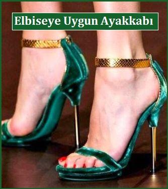 Yeşil Elbiseye Uygun Ayakkabı Siparişi