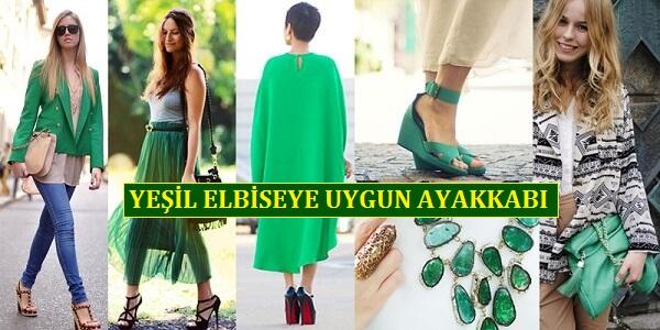 Yeşil Elbiseye Uygun Ayakkabı Modelleri