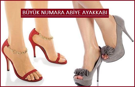 Büyük Numara Bayan Abiye Ayakkabılar