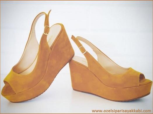 Bayan Platformlu Süet Ayakkabı Modelleri 2017