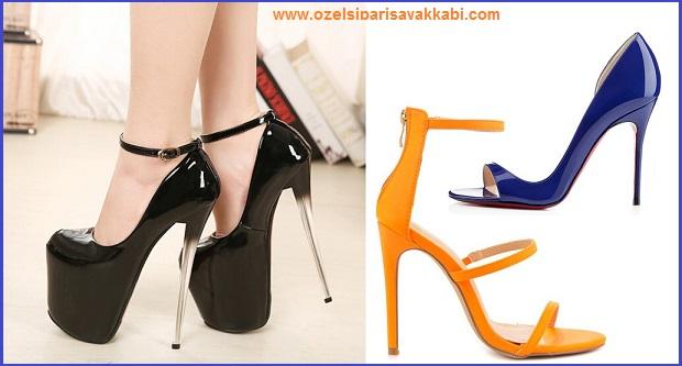 Yaza Özel Topuklu Bayan Ayakkabı Modelleri