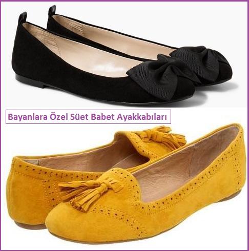 Bayanlara Özel Süet Babet Ayakkabı Modelleri