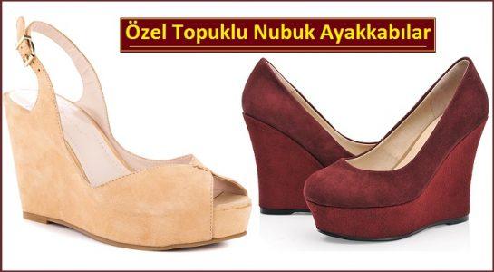 Özel Topuklu Nubuk Ayakkabılar