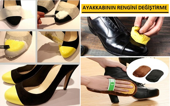 Kahverengi Ayakkabı Rengi Siyaha Çevirme