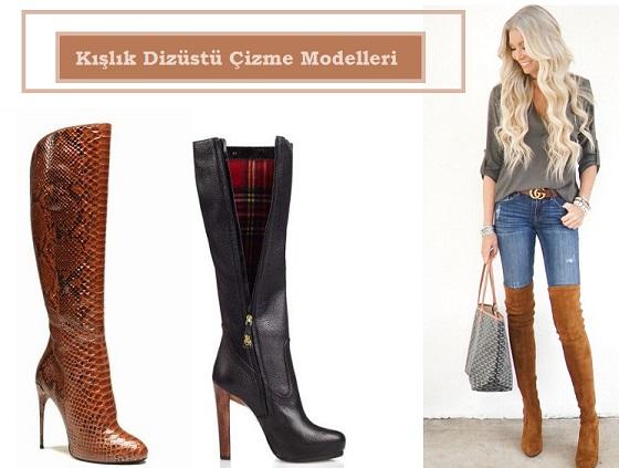 Kışlık Dizüstü Çizme Modelleri -1