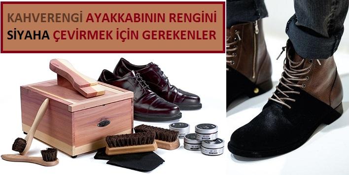 Kahverengi Ayakkabıyı Siyaha Boyama