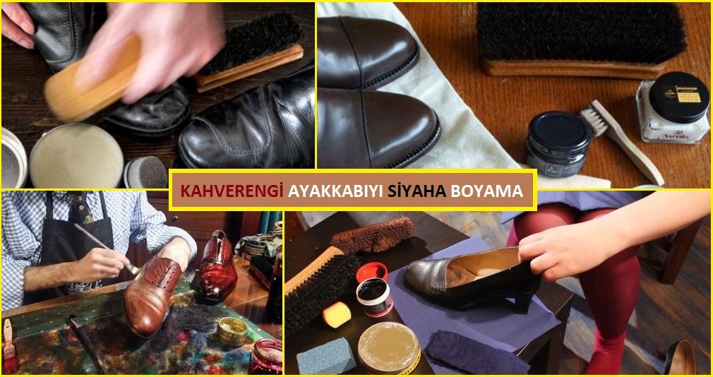 Kahverengi Ayakkabıyı Siyaha Boyama - Rengini Değiştirme