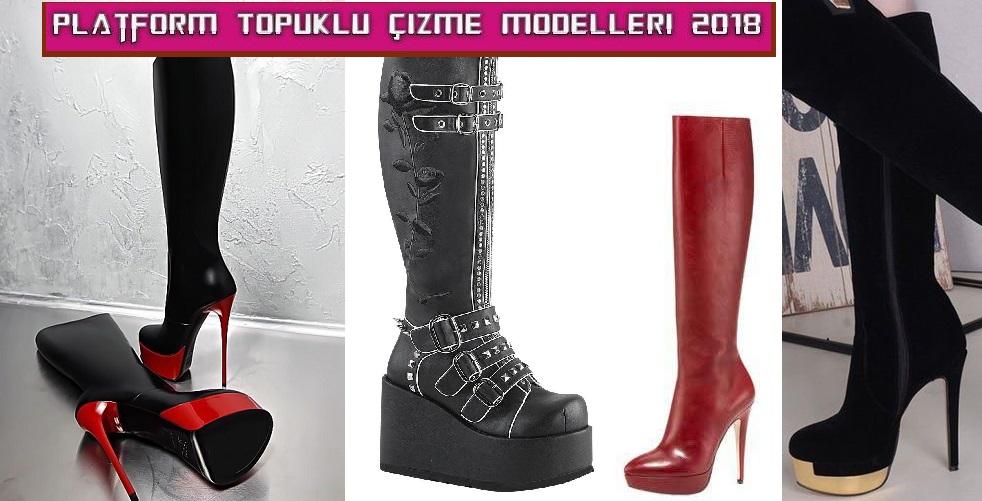 Platform Topuklu Çizme Modelleri 2018 – Asil Kundura