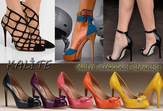 Taşlı Abiye Ayakkabı Siparişi