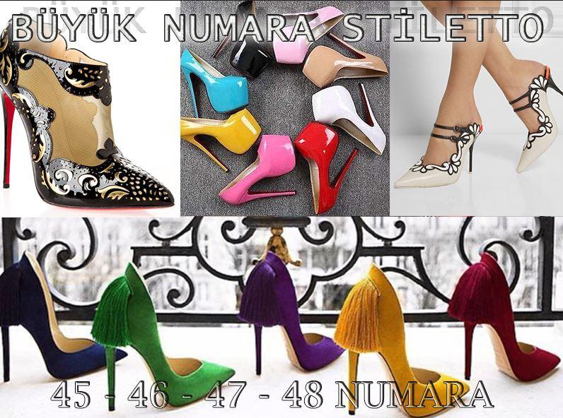 Büyük Numara Stiletto Ayakkabı Modelleri