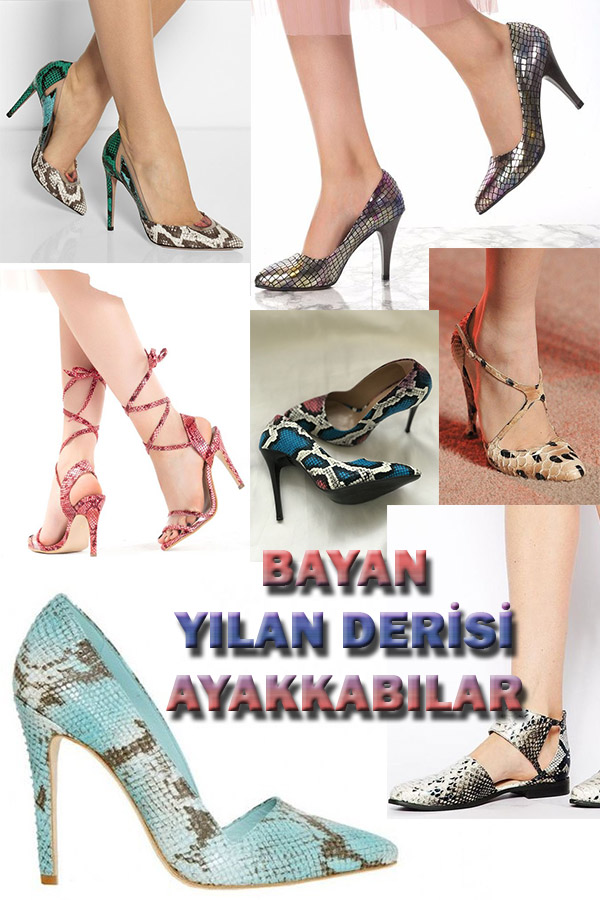 Bayanlara Özel Yılan Derisi Ayakkabılar