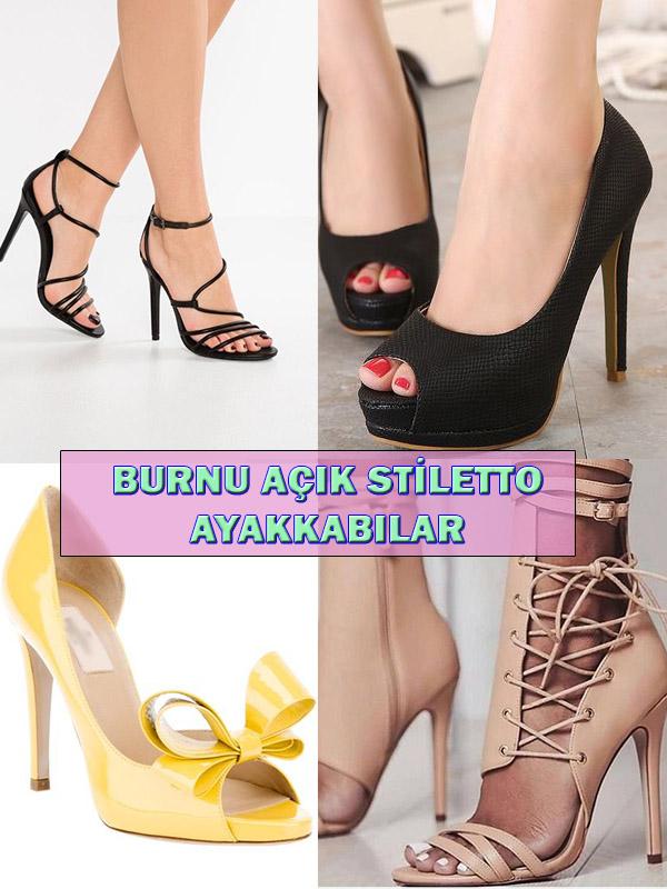 Burnu Açık Stiletto Ayakkabılar