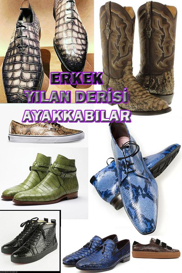Erkeklere Özel Yılan Derisi Ayakkabılar