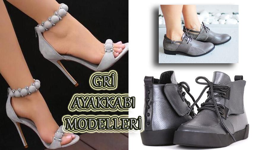 Gri Renkli Ayakkabı Modelleri