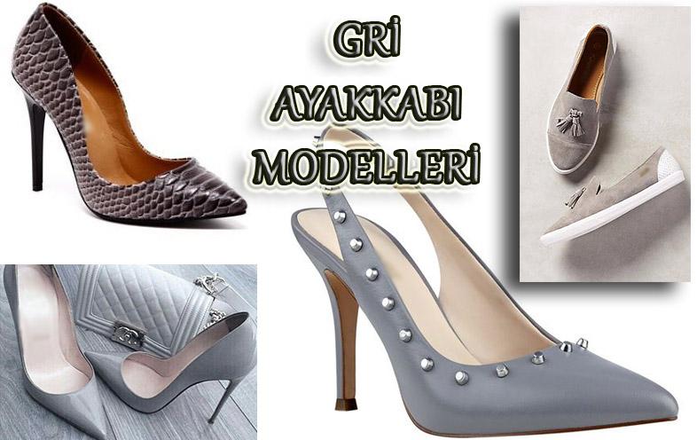 Gri Renkli Ayakkabı Modelleri - 1