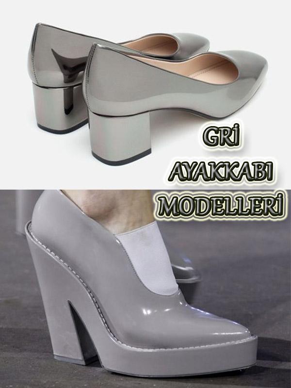 Gri Renkli Ayakkabı Modelleri - 2