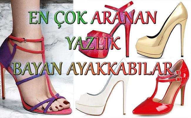 En Çok Aranan Yazlık Bayan Ayakkabılar