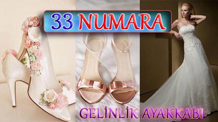 Yazlık 33 Numara Topuklu Gelinlik Ayakkabıları