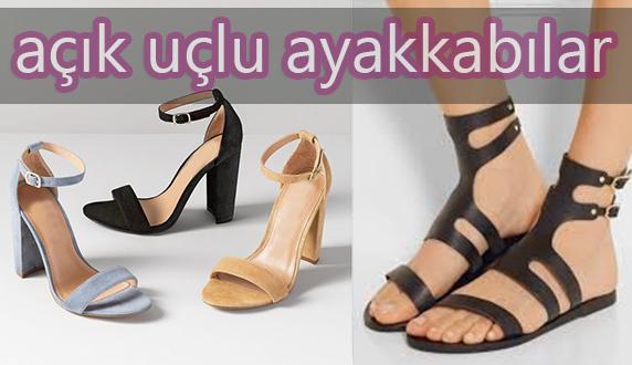 açık uçlu bayan ayakkabılar