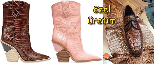 Kroko Deri Sipariş Ayakkabı Üretimi