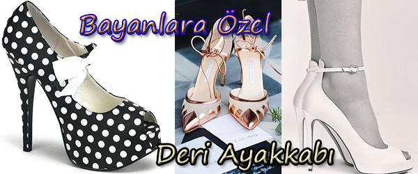 Bayanlara Özel Deri Ayakkabı Siparişi