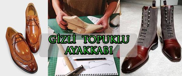 Erkeklere Özel Gizli Topuk Ayakkabı Üretimi