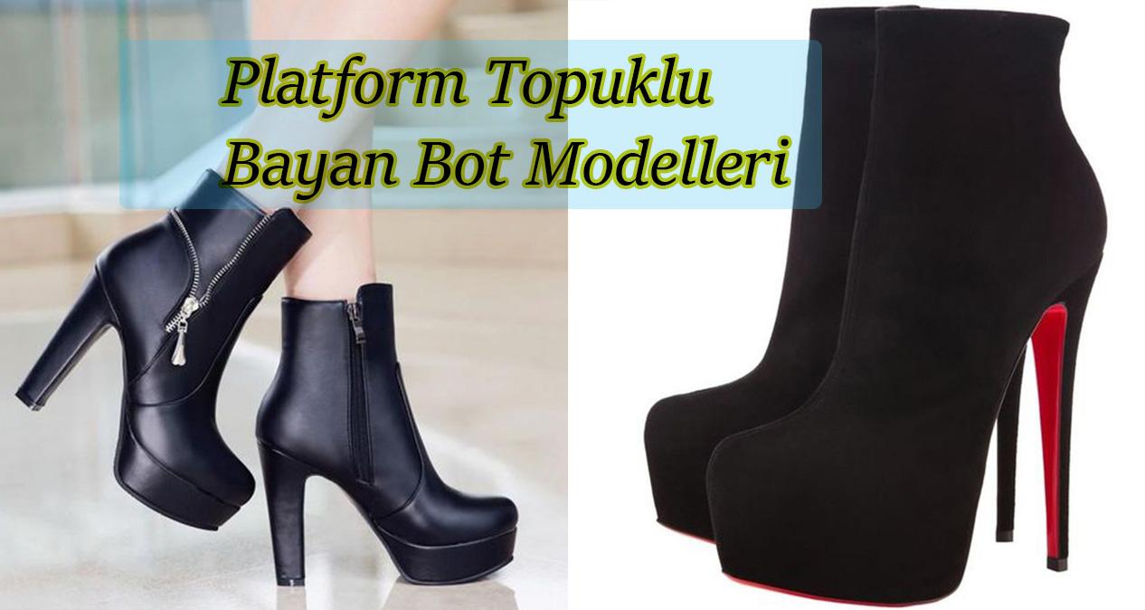 Platform Topuklu Bayan Bot Modelleri