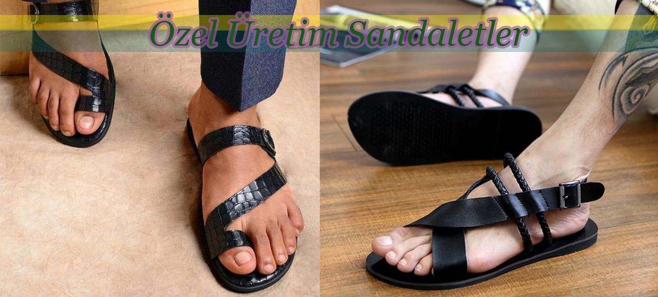 Yazlık Deri Erkek Sandalet