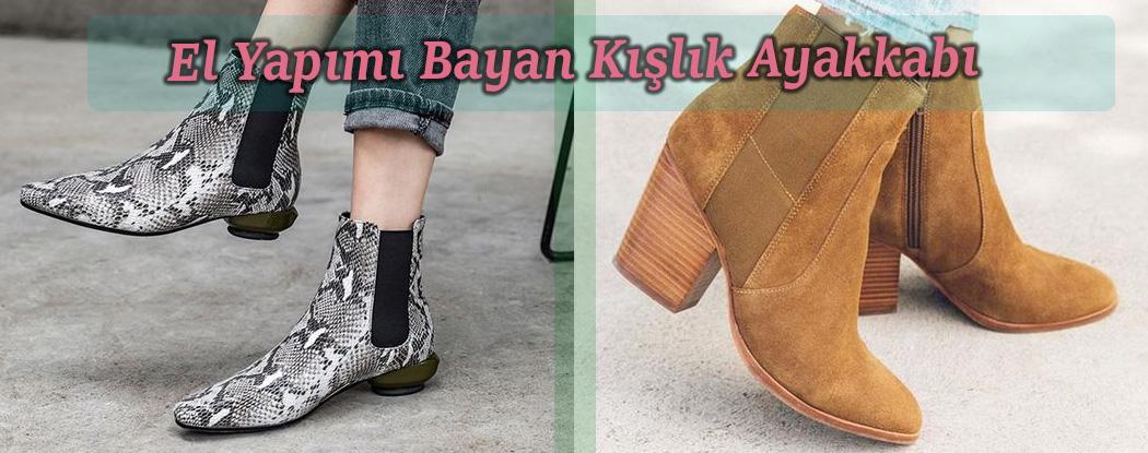 El Yapımı Bayan Kışlık Ayakkabı
