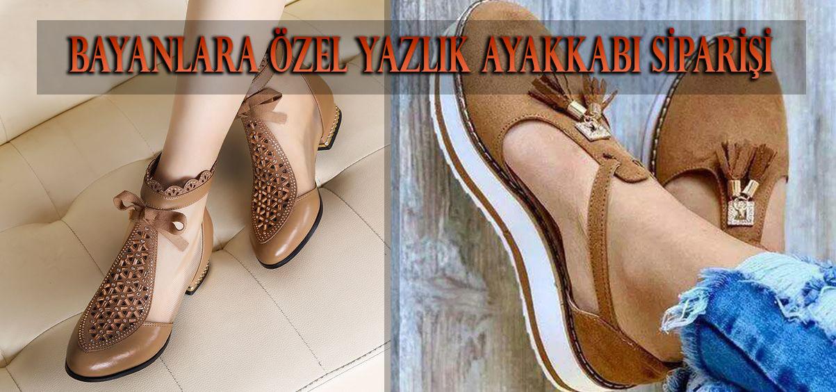 Bayanlara Özel Yazlık Ayakkabı Siparişi