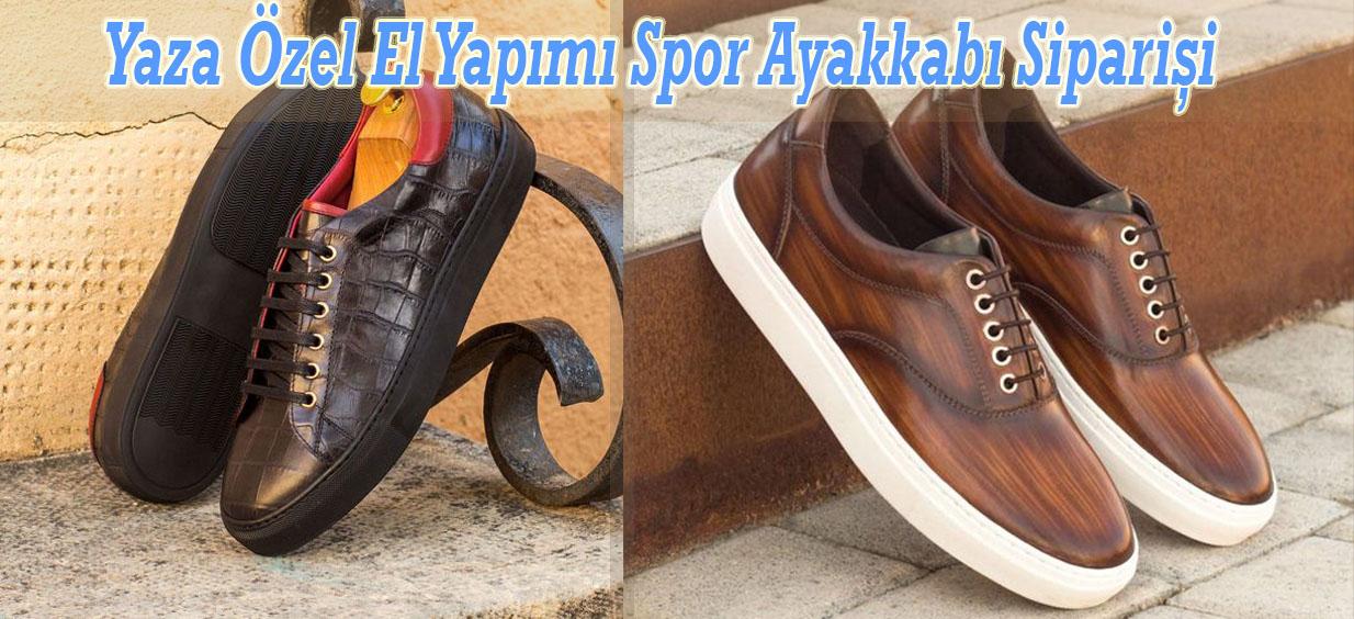 Yaza Özel El Yapımı Spor Ayakkabı Siparişi