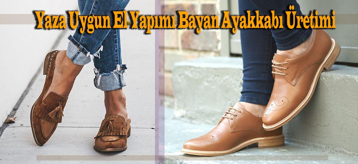 Yaza Uygun El Yapımı Bayan Ayakkabı Üretimi